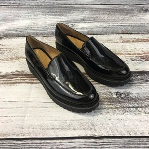 $89 Franco Sarto Static Platform Loafer Slip Ons